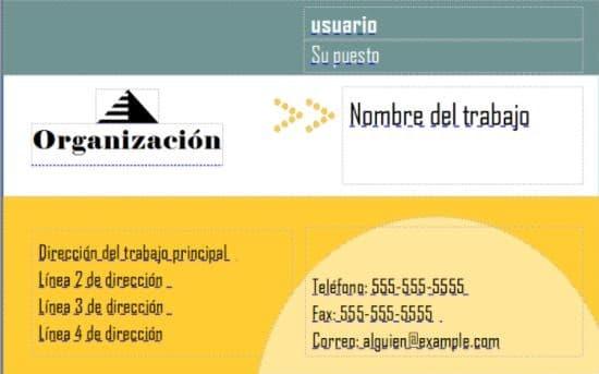 publisher tarjetas presentacion