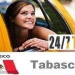 Trabajadores del taxis en Villahermosa